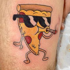 Traditional Steve Pizza. Done by Raphael Farias on Sincere Love Tattoos Parlour - Rio de Janeiro.