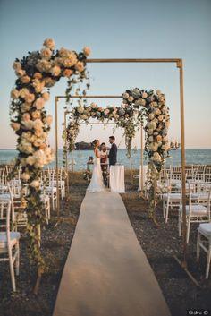 24 Beautiful Wedding Arch Ideas For Your Day Of Love - perfect wedding - Beach Beach Wedding Decorations, Wedding Themes, Wedding Styles, Outdoor Decorations, Best Wedding Ideas, Wedding Tips, Wedding Photos, Beach Ceremony, Wedding Ceremony