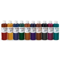Set of 10 Classic Nasco Economy Washable Liquid Watercolors ~ Watercolor - Washable Liquid ~ Paint Preschool Supplies, Craft Supplies, Crafts For Kids, Arts And Crafts, Diy Crafts, Liquid Paint, Liquid Watercolor, Food Coloring, Watercolors