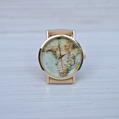 Vintage map graduation gift gift for women world map watch gift africa map world map watch african jewelry travel by ayobijou gumiabroncs Image collections
