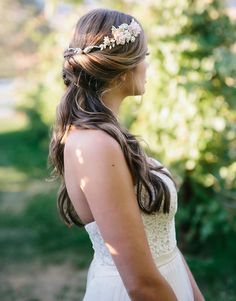 Romantic Gold Bridal Headband with Pink Fabric Flowers Envogue HJ1745 - Affordable Elegance Bridal -