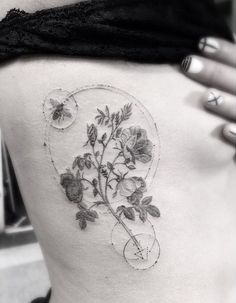 dr woo tattoo flower - Google Search...
