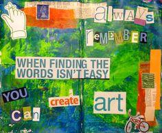 From Rachel Mims' blogspot http://rachelmims.blogspot.com, an inspiring message for art therapy and art therapists.
