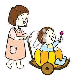 iCLIPART - Cartoon Clip Art Image of Kids Giving their Mother ...