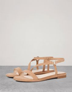 Platte sandaal BSK, bandje - Platte sandaal - Bershka Belgium