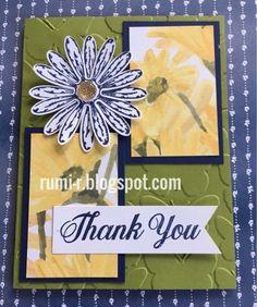 Rumi's Paper Craft                             スタンピンアップ手作りカード: デイジーディライトのThank Youカード