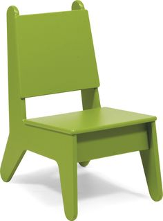 The Kids Plastic Outdoor Chair was designed in collaboration with Los Angeles designers Mark Rios, Julie Smith-Clementi, and Frank Clementi of notNeutral. Made to withstand the elements and the a
