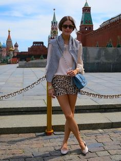 leopard shorts in moscow