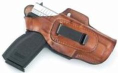 Front Line Fast Draw Four Way Position Brown Leather Gun Holster Ruger SR9/SR40 Left - Brought to you by Avarsha.com