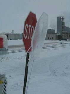 Only in Wisconsin! - Nope we had this in Saint John, New Brunswick Canada too! Except ours melted down a bit and was a perfect copy of the sign about three inches lower!