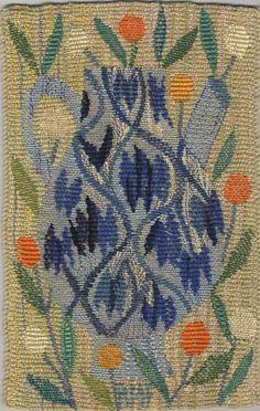 Ann-Mari Forsberg [AB Märta Måås-Fjetterström], Sample for tapestry Weaving Textiles, Tapestry Weaving, Art Textile, Textile Patterns, Rug Inspiration, Fabric Rug, Weaving Projects, E Design, Retro Design