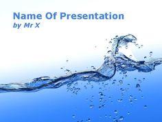 Water Stream Blue Theme Main PPT Presentation Theme