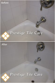 Regrouting and recaulking bathtub surround tiles.