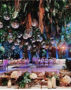 Wedding Bells, Wedding Reception, Our Wedding, Dream Wedding, Tent Wedding, Glamorous Wedding, Disco Theme, Disco Party, Disco Ball