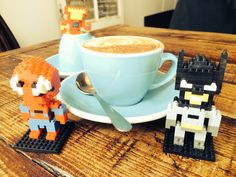 """Look who joined our morning coffee meeting today! #SPIDERMAN  - Pop by KEFFEINE today and tell us who is the """"half-assembled"""" little man in this photo and win a FREE TREAT for yourself  ; ) #kokakoorganic #DoubleShotsAsAlways  #LegoAvengers"""