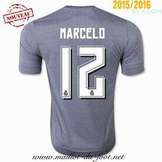 acheter Maillot de foot Real Madrid Marcelo 12 Exterieur 2015 2016 decathlon
