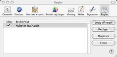 Spamfiltrering i Apple Mail, trinn 1.