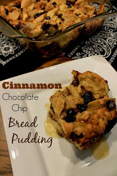 Christmas Morning Breakfast: Cinnamon Chocolate Chip Bread Pudding