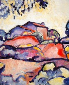 Fauve Landscape by Georges Braque -    In de eerste fase zoekt de kubistische kunstenaar naar de basisstructuren achter de dingen en zijn er nog herkenbare, tamelijk samenhangende vormen (zoals Huizen in L'estaque en Grand Nu van Braque, Fruits et Verre en Briquetterie à Tortosa van Picasso). De objecten vertonen een vergaande stilering: de schilderijen lijken in eerste instantie opgebouwd uit meetkundige vormen.