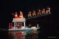 Newport Beach Christmas Boat Parade - if only I lived in California!