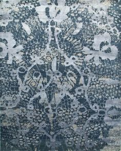 An organic lace motif and rich layering depicts understated opulence. Jenny Jones, Tree Branches, Crochet Lace, Art Pieces, Rugs, How To Make, Floors, Leather, Farmhouse Rugs