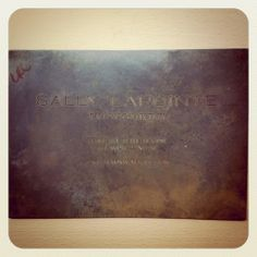 Fashion Week Invite 2012 ~ Sally Laponte made a statement with this invitation made from a slab of metal.