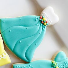 cookies in color - dress cookies