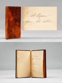 First Edition Presentation Copy Of Mary Shelleys Frankenstein Novel 1818 Given By Her To Lord Byron With Autographed Inscription On The Front