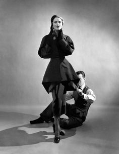 Fashion Designer Charles James, with Ricki VanDusen, by Cecil Beaton, 1948