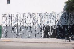 FUTURA Mural Underway On Houston/Bowery Wall