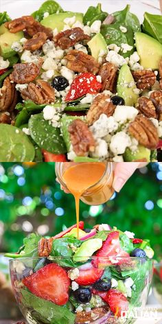 Best Ever Strawberry Spinach Salad will rock your world! This simple recipe is a celebration of summers bounty in the most spectacular salad you will ever eat. Fresh crisp spinach salad is taken to an Best Salad Recipes, Keto Recipes, Vegetarian Recipes, Cooking Recipes, Healthy Recipes, Salads For Dinner, Dinner Salad Recipes, Simple Salad Recipes, Fruit Dinner