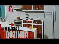 Tutorial Barbie - Como fazer uma COZINHA para sua Barbie, Monster High, EAH - YouTube