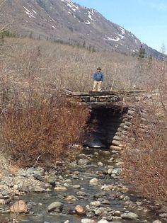 Pioneer road in Alaska.