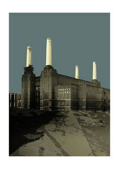 Prison, London Brighton, London Art, London Drawing, London Painting, Battersea Power Station, Art Deco Stil, Grey Artist, Fat Art