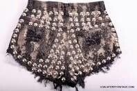 Coal N Terry Vintage Wicked Effect Cut Offs Studded Shorts, Rock Chick, Coachella, My Wardrobe, Short Skirts, Boho Shorts, Looks Great, Style Me, Sequin Skirt