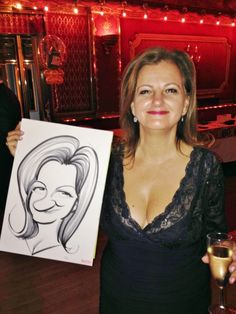 Party caricatures at the Rivoli Ballroom, London. Hire London'd finest caricaturist - Spot On george