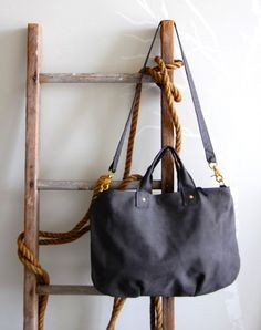 CLAREVIVIER Messenger Tote, Nubuck leather with detachable leashed clutch, $345