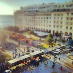 Miniature Aristotelous Square. (Walking Thessaloniki / Route 01, Port) Commercial Street, Thessaloniki, Miniature, Walking, Mini Things, Woking, Hiking