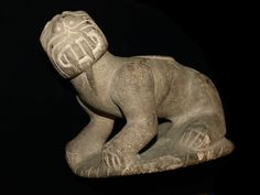 """The """"Davis Pipe"""" found in the central Mississippi Valley. Mississippian culture depiction of an """"underwater panther"""". in length, weight almost 3 lbs, made of fine grained sandstone. Ancient History, Art History, Indian Artifacts, Stone Carving, Tribal Art, First Nations, Cat Art, Archaeology, South America"""