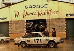 Foto de 1972, a punto de partir a correr el Rallye de Montecarlo Estanislao Reverter y Antonio Freire con un Seat 124 Sport 1600 Rally Car, Race Cars, Racing, Vehicles, Sports, Places, Girls, Vintage, Cars Motorcycles