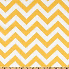Fabric by the Yard Yellow ZigZag Chevron Premier by MyFabricStudio, $9.50