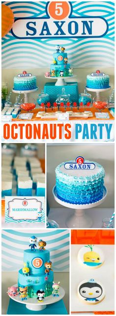 What a cool Octonauts party with amazing under the sea creatures! See more party ideas at CatchMyParty.com!