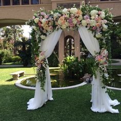 Wedding Arch Rustic, Church Wedding Decorations, Outdoor Wedding Reception, Wedding Arches, Wedding Centerpieces, Wedding Wows, Floral Wedding, Wedding Colors, Fall Wedding