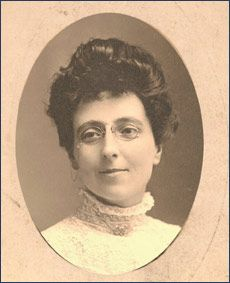 The author of Anne of Green Gables, Lucy Maud Montgomery. This was taken in 1908, the year Anne of GG was first published, when she was 34.