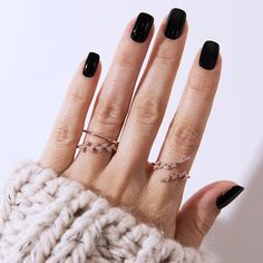 Simply irresistible✨magical✨ mystical✨ Click link in bio👆💗 #new1moment #finejewelry Opi Gel Nails, Black Gel Nails, Nail Manicure, Black Manicure, Perfect Nails, Gorgeous Nails, Cute Nails, Pretty Nails, Vernis Semi Permanent