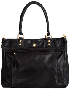 Harrison Tote Black - Corrente Handbags | Leather Handbags and Purses Made Locally In NYC, USA