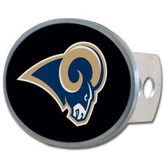 NFL St. Louis Rams Oval Hitch Cover, Class II & III  http://allstarsportsfan.com/product/nfl-oval-hitch-cover/?attribute_pa_teamname=st-louis-rams  Officially licensed merchandise Class II and III hitch plugs included All metal including hitch plugs