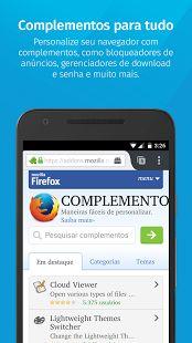 Navegador Firefox: miniatura da captura de tela