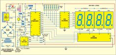 Fig. 1: Circuit of microcontroller-based clock using DS1307