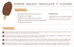 Bombón helado de chocolate y plátano
